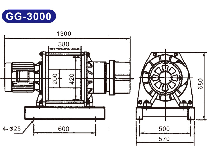 Máy tời kéo mặt đất 3 tấn KIO Winch GG-3000