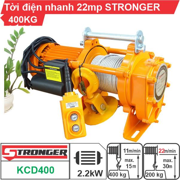 Máy tời nhanh xây dựng 200-400kg 22m/phút STRONGER KCD400