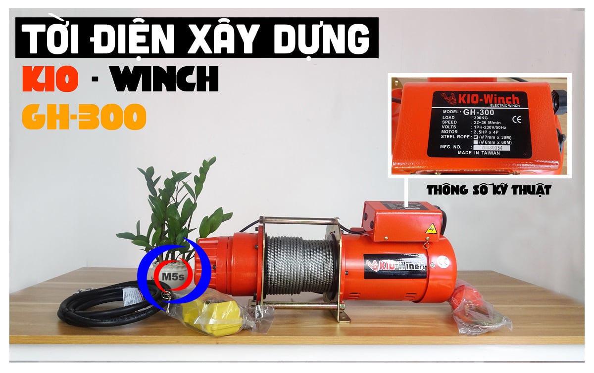 Tời điện tốc độ siêu nhanh KIO Winch 300kg GH300