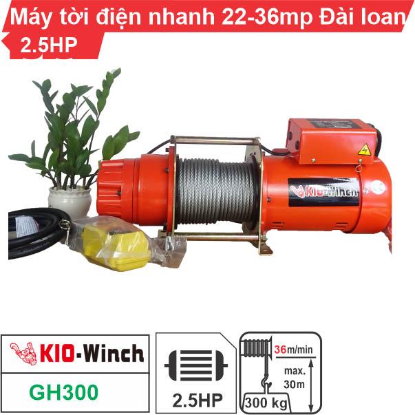 Máy tời nhanh xây dựng 300kg 36m/phút KIO Winch GH-300