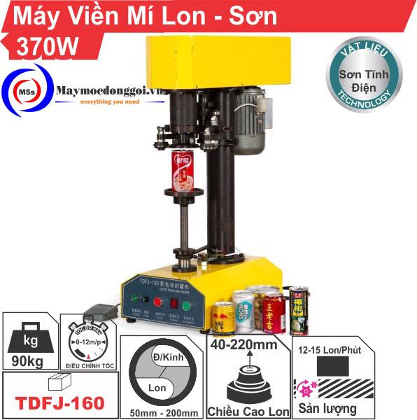 Máy viền mí lon bán tự động TDFI-160 vỏ sơn tĩnh điện