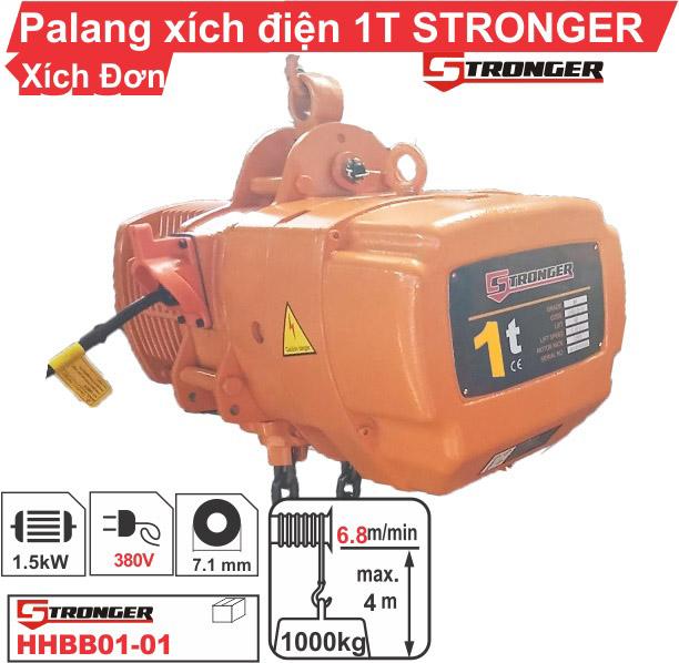 Palang xích điện 1 tấn 4 mét Stronger cố định