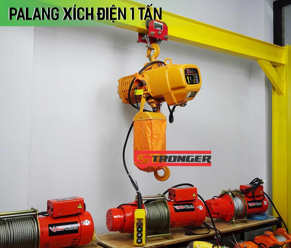 Palang xích điện 1 tấn  4 mét Stronger (cố định)