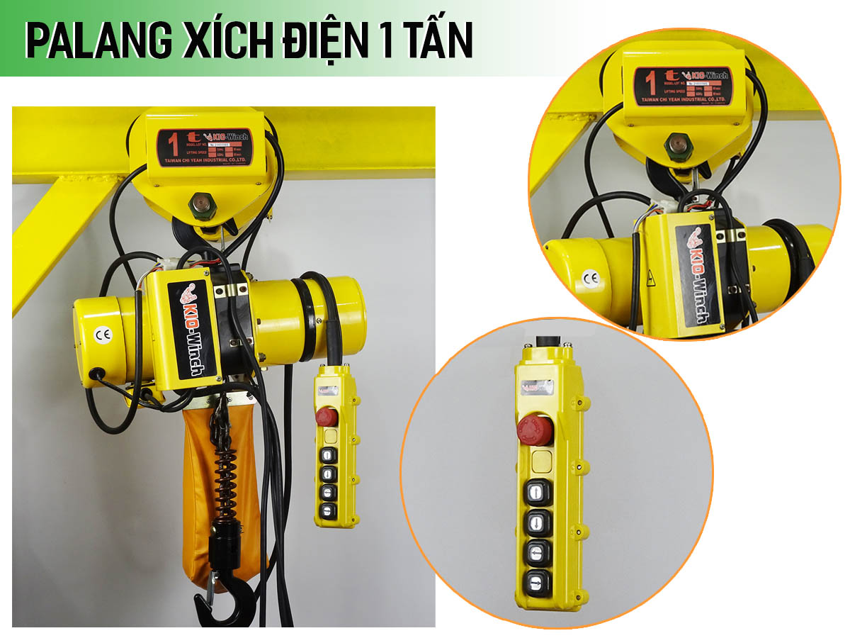Palang xích điện 1 tấn KIO WINCH (dịch chuyển)