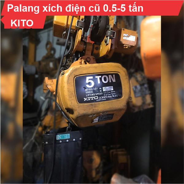 Palang xích điện Kito 500kg-3 tấn cũ dịch chuyển