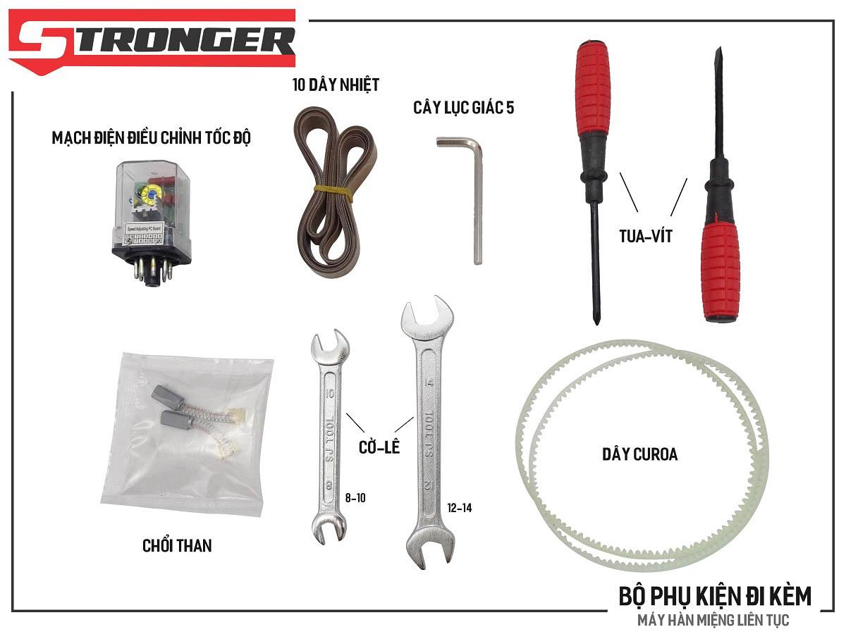 Phụ kiện máy hàn miệng túi liên tục FRD-750-IN Stronger vỏ inox