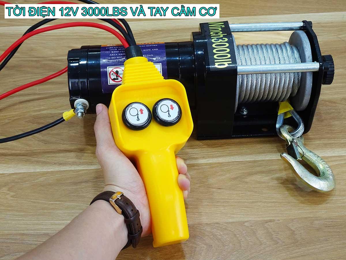 Tời điện 12V 3000Lbs Stronger