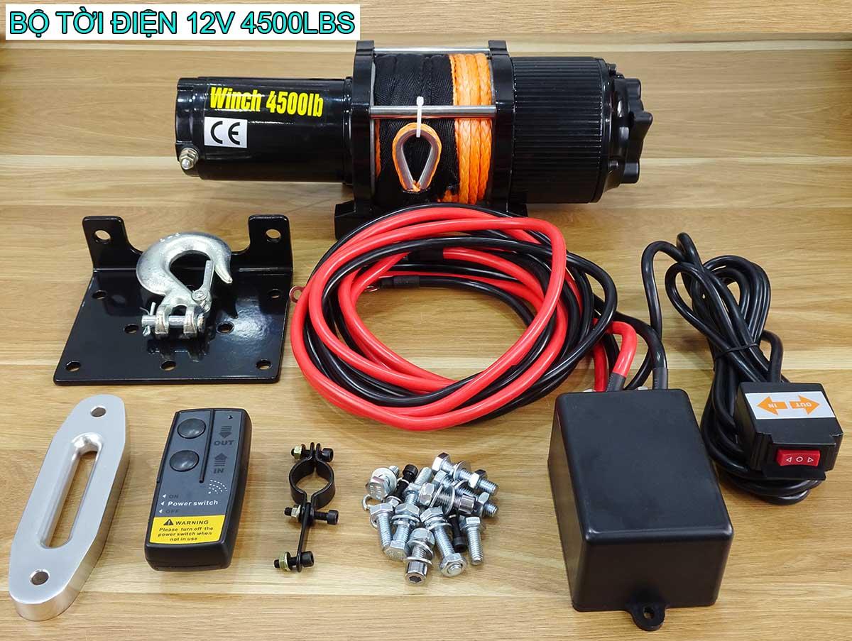 Tời điện 12V 4500Lbs Stronger mẫu mới