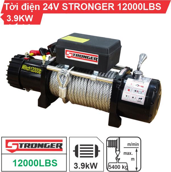 Tời điện 24V 12000Lbs Stronger