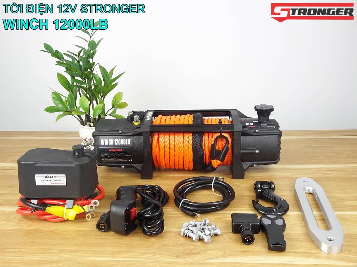 Tời điện 12V 12000Lbs Stronger mẫu mới