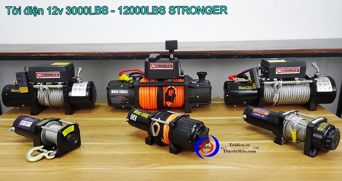Tời điện 12V-24V Stronger